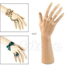 2018 1Pc Nail Art Fake Model Watch Ring Bracelet Gloves Stand Display Mannequin Hand AUG4_45(China)