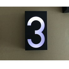 Safety Solar Doorplate Number Outdoor Lighting Billboard Light 6 LED Light Sign House Hotel Door Plaque Digit Plate Number Lamp