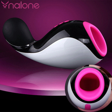 Nalone 7 Speed Bluetooth Male Masturbator Cup Oral Sucking Flashlight Girl Realistic Vagina Artificial Pussy Sex Product for Man(China)