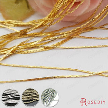 (12857)5 Meters 0.5MM or 0.8MM Copper Square Link Chains Gold or Silver Chains for Necklace making Jewelry Findings Accessories