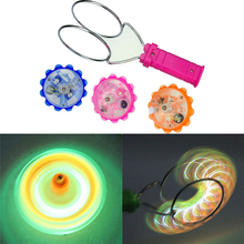 1Pcs New Magnetic Gyro Wheel Magic Spinning Top Laser Led Gyro Colorful Light Toy Children Light-Up Toys Gift