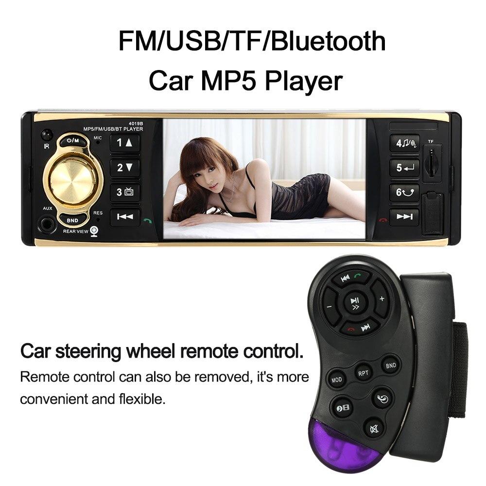 Hot sale! Universal Bluetooth Steering Wheel Remote Control 4.1inch TFT HD 1080P Digital Sn Car Radio MP5 Player USB/TF FM A<br><br>Aliexpress