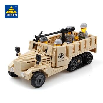 2017 serie militar kazi 82003 siglo 205 unidades + m2 halftrack wwii vehículos militares montado bloques de construcción de juguete