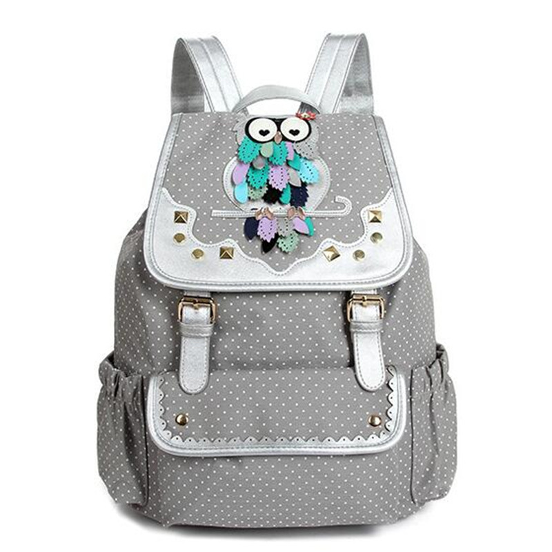 New Fashion Lovely Cartoon Owl Backpack Women Drawstring Bag Quality Canvas Travel Bag Student School Bags For Girls Children<br><br>Aliexpress