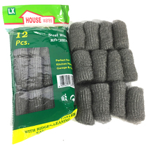 12Pcs/lot Melamine Sponge Metal Mesh Kitchen Super Detergent Cleaning Tools Degreasing Pot Brush Magic Cleaner Steel Wool Pads(China)