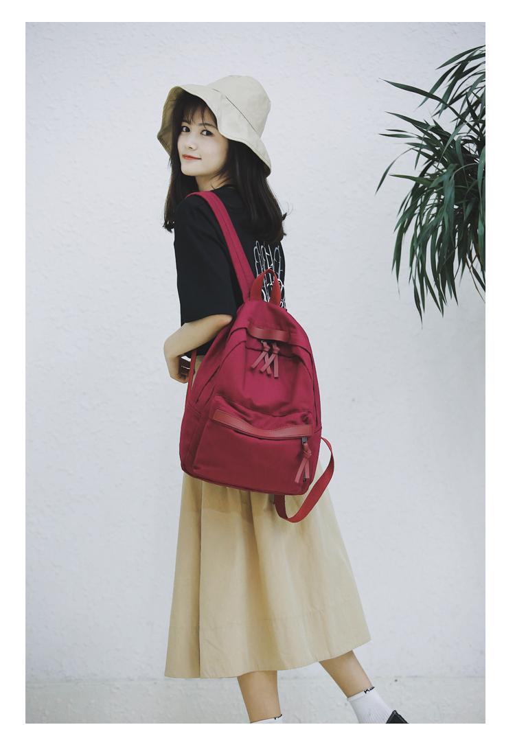 Menghuo High Quality Women Canvas Backpack Teenage Girls Leisure Backpack Bag Vintage Stylish Female School Bag Bookbag Mochilas (16)
