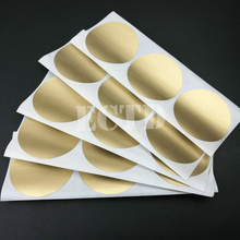 "500pcs Scratch Off Stickers 50x50mm 2"" Circle Gold Color Round Shape For Games Wedding Party Tickets Promotional Games Favors(China)"