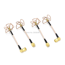 5.8 GHz antenna Straight Shape L Type Inner Needle / Hole trefoil 4 Leaf Clover 5.8Ghz Antennas Set fpv drone image transmission(China)