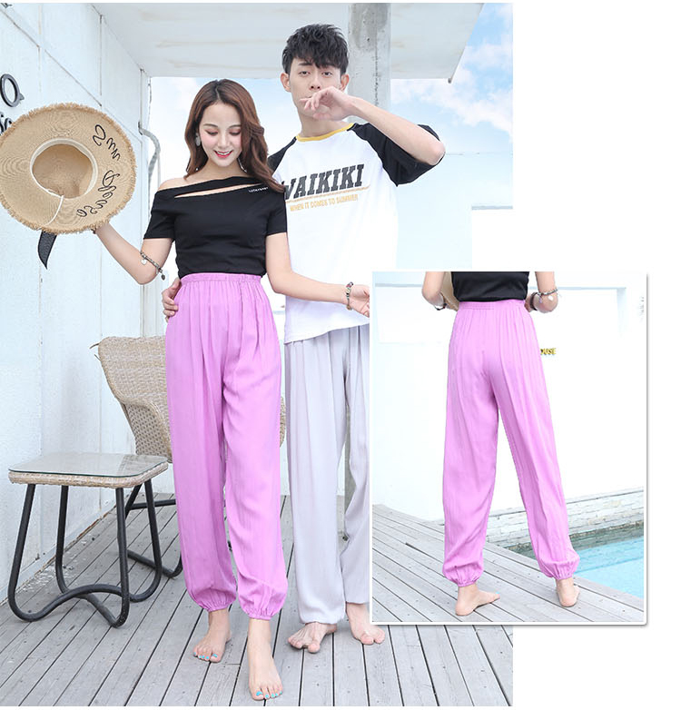 Baggy Pants Women Plus Size Women Pants 19 Summer Women Solid Color Casual Loose Harem Pants Trousers Pantalon Femme Pantalon 12