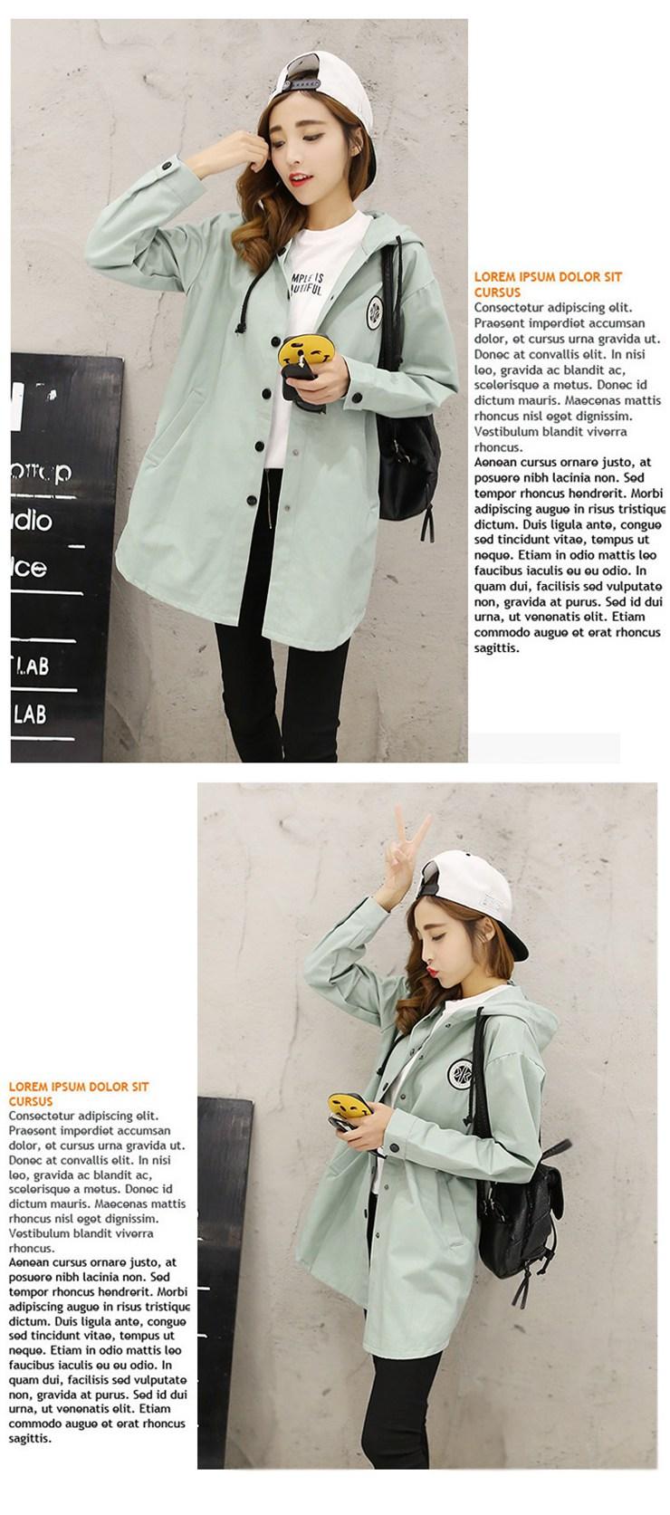 Jackets Women 2019 New Winter Fall Women\`s Basic Jacket Letter Print Coats Outwear Windbreaker Jacket Hooded Chaquetas Mujer (12)