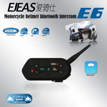 2017 Ejeas E6 6 People 1200m VOX Bluetooth Motorcycle Intercom Headset for Half Full Face KTM Helmets Support Music MP3 GPS