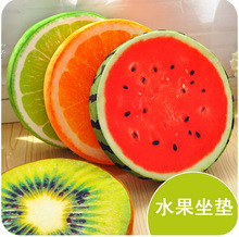 3D Seat Simulation Fruit Cushion With Sponge Complete Funny Pad Plush Chair Mat Pillow Upgrade Version Removable Washable Home(China)
