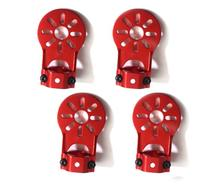 4Pcs Red Aluminium Alloy Motor Mount Holder for 16mm Glass/Carbon Fiber Tube(China)