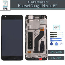 Huawei Google Nexus 6P Lcd Display Frame Touch Screen Digitizer Assembly Original Pantalla Black - Phone Parts Expert Store store