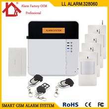 Wireless/Wired GSM Home Burglar Security GSM Alarm System(China)