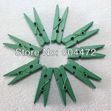 (300 units/lot) Green clips | mini wooden pegs | 35mm | Xmas Tree Decoration Green Clothespins