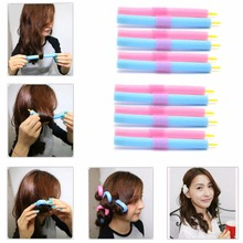 12PCS/1Pack Soft Twist Soft Foam Bendy Hair Rollers Curlers Cling Strip Hair Tool 3T03247