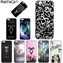 MaiYaCa shadowhunters Luxury Quality black soft tpu Phone Case for Apple iPhone 8 7 6 6S Plus X 5 5S SE 5C case Cell phones(China)