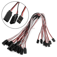 10Pcs 300mm Y Style Servo RC Extension Lead Wire Cable Cord For JR Futaba 30cm -B116