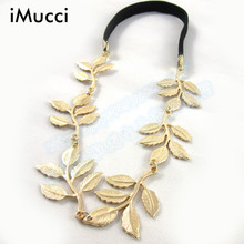 iMucci Leaf Leaves Grecian Garland Forehead Head Hair Band Headband Gold Olive Branch Cute Leaves Infantil Hair Accessories