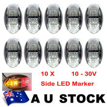 THTMH 10X 12V 24V DC AMBER RED Two colour CLEARANCE LIGHTS SIDE MARKER LED FOR TRAILER TRUCK BUS