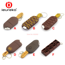 64gb usb flash drive chocolate Ice Cream pen drive usb stick cute mini pendrive 8GB 16GB 32gb U disk flash card Creative gifts