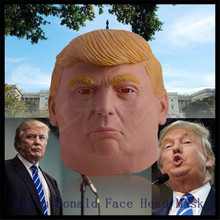 Top Grade 100% Latex 1 PC New Design Donald Trump Halloween Mask Billionaire Presidential Costume Latex Halloween Decoration(China)