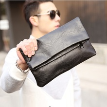 GUDANSEN Handbags Brand Men Envelope Briefcase Clutch Travel Bag Boy Vintage Laptop Business PU Leather Ipad Bags HK10