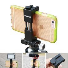New IRON MAN II High quality Aluminum alloy Smartphone Tripod Mount clamp Cell Phone Tripod Adapter Clip with Cold Shoe Mount