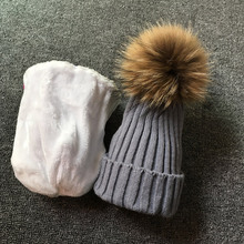 Age 1-6 years Kids Boys Girls Warm Fleece Liner Beanie Hats Winter Fur Hat For Children Plus velvet Baby Pompom Skullies Beanies(China)
