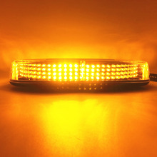 High Power Amber Color LED Car Auto Roof flashing Strobe Light Police firemen Emergency beacon light lamps DC12V