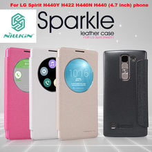 Nillkin sparkle series flip leather case cover For LG Spirit H440Y H422 H440N H440 (4.7 inch) phone bag skin cases
