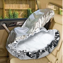 Universal Protective Silver Aluminium Car Seat Sun Shade Cover Baby Infant Carriage Sunshade Cover Child Seat Deflect UV Rays
