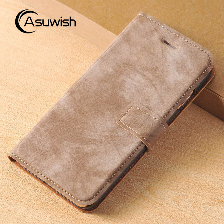 Asuwish Flip Cover Wallet Leather Case Apple iPhone 6 Plus 6s Plus 7 7 Plus Phone Case Luxury Bag Card Holder Kickstand