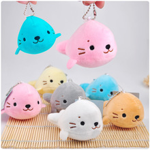 1 Pcs Random Color 10cm Kawaii Sea Lion Plush Toy Dolls Keychain Pendant Wedding Bouquet