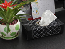 1PC Senior wine combo tissue box Kleenex pumping high-grade tissue paper storage box car dual-purpose red white C0011(China)