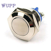 Vehicle car button switch  16mm Anti-Vandal Momentary Steel Metal Push Button Switch Flat Top