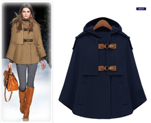 Classic Winter Women's Outerwear Jacket with a Hood, Ladies Discount Woolen Blends Coat(China)