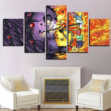 Canvas HD Printed Poster Modular Wall Art Picture 5 Pieces Anime Naruto Sasuke Painting Living Room Modern Home Decor Framework