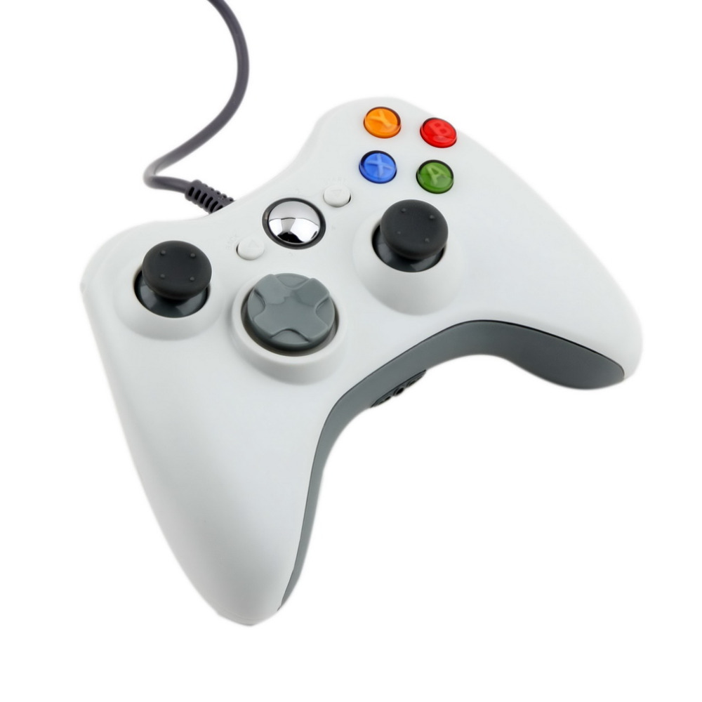 1pcs USB Wired Joypad Gamepad  white Controller For Microsoft for Xbox &amp; Slim for 360 PC for Windows 7 Hot Worldwide 2016<br><br>Aliexpress