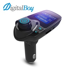 Digitalboy Car FM Transmitter Modulator Handsfree Car Wireless Bluetooth MP3 Kit LCD Display with USB Charger for iPhone Samsung(China)