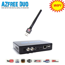 Azbox receiver and satellite azfree duo with wifi antenna work for South America