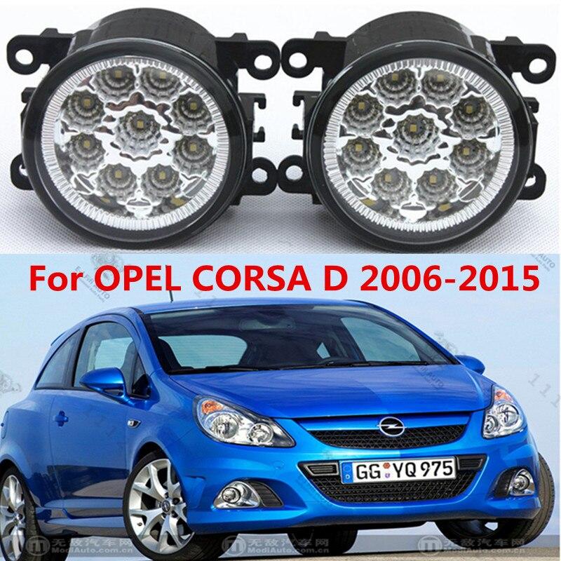 For OPEL CORSA D 2006-2015  Car styling front bumper LED fog Lights high brightness fog lamps 1set<br><br>Aliexpress
