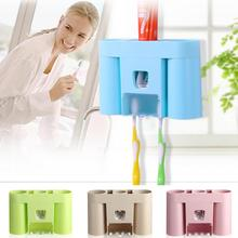 Automatic Toothpaste Dispenser Wall Mount Toothbrush Holder Tooth Paste Tube Squeezer Dispenser Tooth Brush Holder Brush Rack