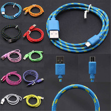 2M/6FT Long Strong Sync Charger Cable Fabric Braided Micro USB Cable For Samsung Galaxy S3 S4 S5 S6 Note 2 3 4 And Android Phone