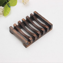 Soap Dish Handmade Natural Wooden Soap Box Handmade Soap Holder Wooden Soap Dish  Rack 10pcs\lot Jabonera Saboneteira