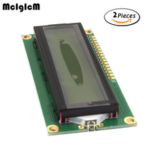 MCIGICM 2pcs lcd 1602 yellow screen Character LCD Display Module Blacklight New and Black code Hot sale(China)