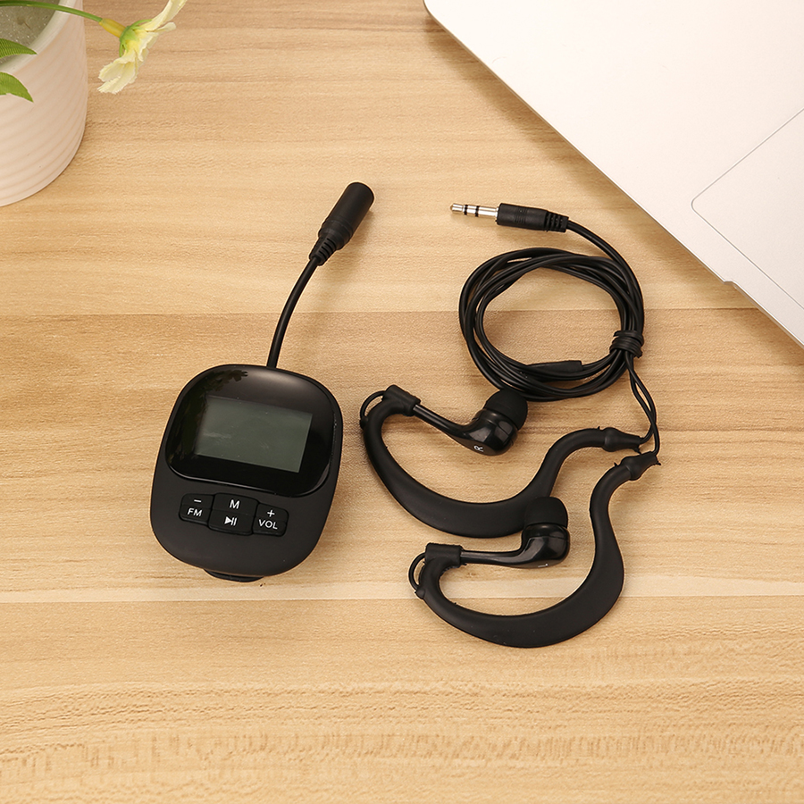 IPX8 Waterproof 4G/8G Mp3 Swimming Underwater Sport MP3 Music Player Stereo Earphones with FM Clip Screen for Surfing