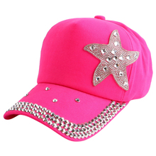 promotion cheap 2016 new fashion star starfish style children snapback beauty baseball cap outdoor play kid boy girl summer hats