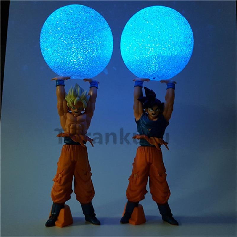Anime Dragon Ball Z Action Figure Son Goku Super Saiyan Spirit Bomb Led Light Dragon Ball Z Model Toy DBZ Son Goku<br>